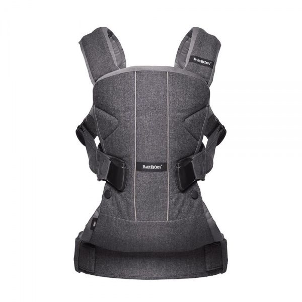 BabyBjorn BB®Baby Carrier ONE Denim grey-Dark grey Cotton Mix рюкзак-кенгуру