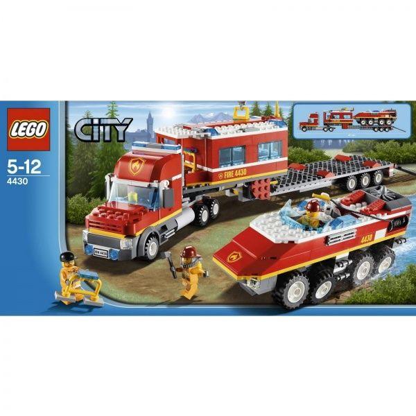 Лего пожарный транспортер с заводского конвейера сошел первый