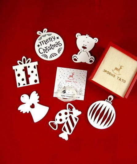 Зробив Тато Зробив Тато Рождественский сюрприз набор новогодних игрушек TOYS18010