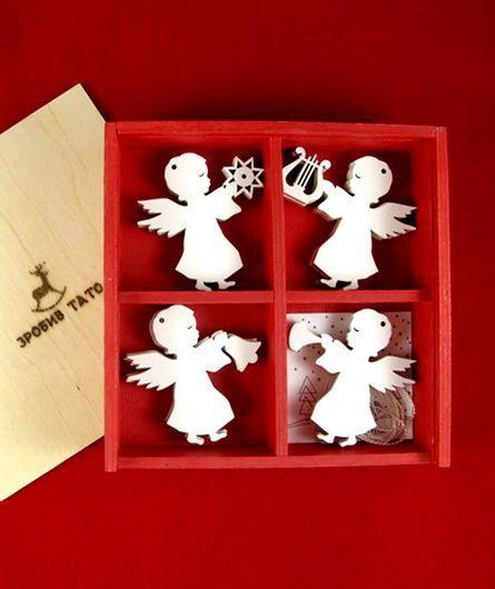 Зробив Тато Зробив Тато Ангелочки набор новогодних игрушек TOYS18015
