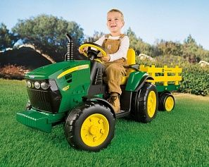 Трактор JOHN DEER Ground Force 12V, Peg Perego