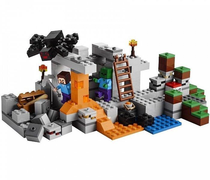 Конструктор lego minecraft пещера зомби купить