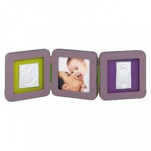 Рамочка Baby Art Double Print FrameTaupe & Lime-Plum