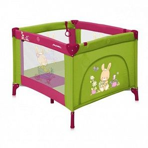 Bertoni Play Station манеж17423#green&pink bunnies
