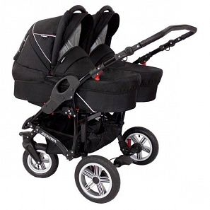 Коляска для двойни 2 в 1 Zekiwa Sport Duo Black