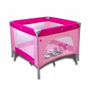 Coto baby CONTI (1м×1м) манеж10-PINK