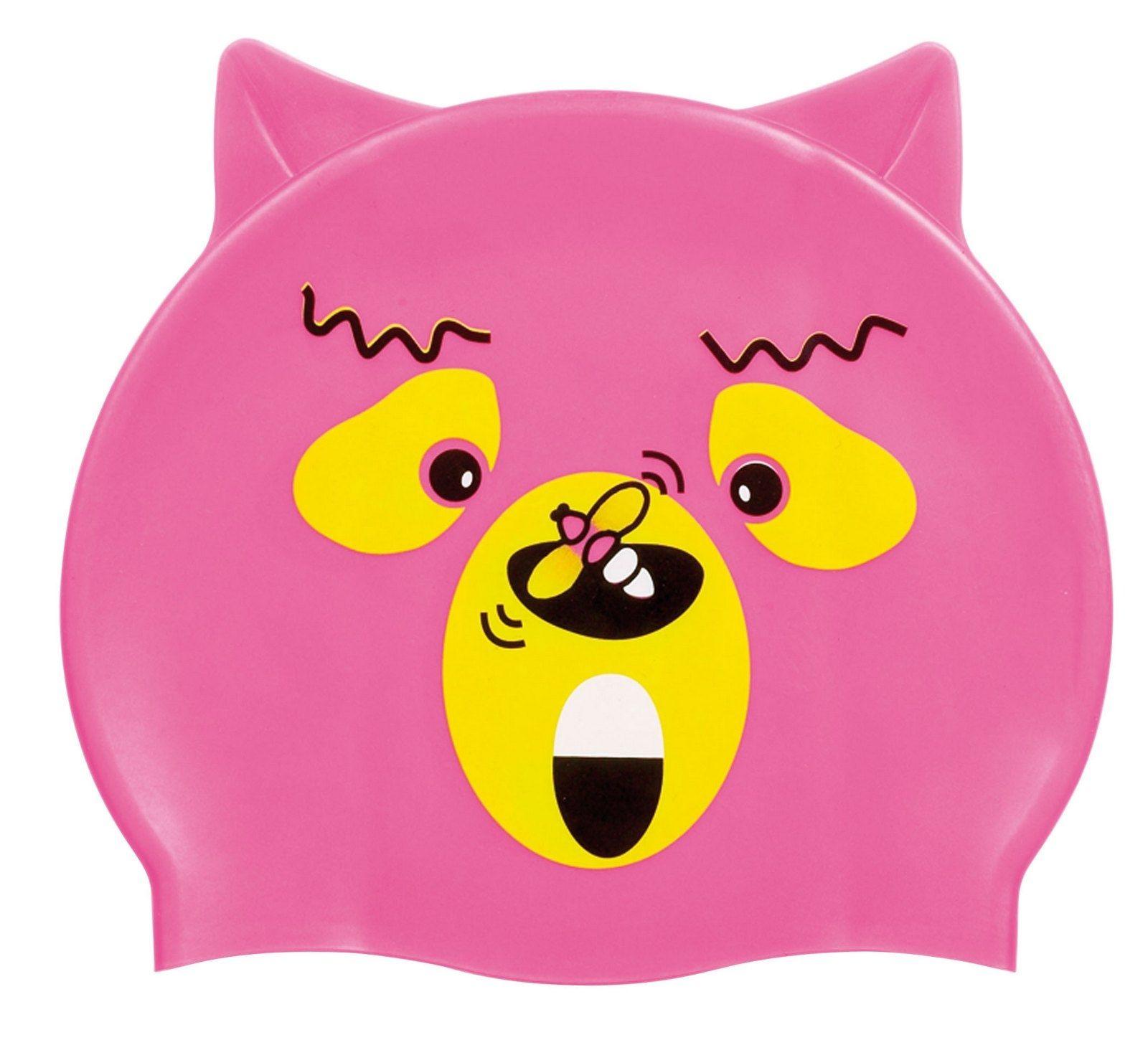 beco Beco 7394 шапочка для плавания детская pink with orange bear